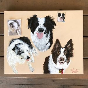 Have your favorite pets painted in acrylic